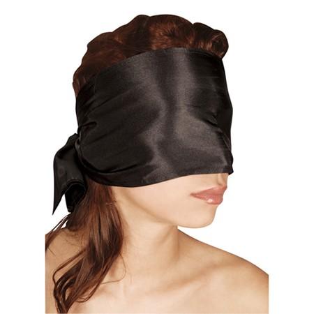 Schwarzer Schal Augenbinde