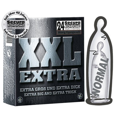 Secura XXL Extra Kondome 54 mm 24er